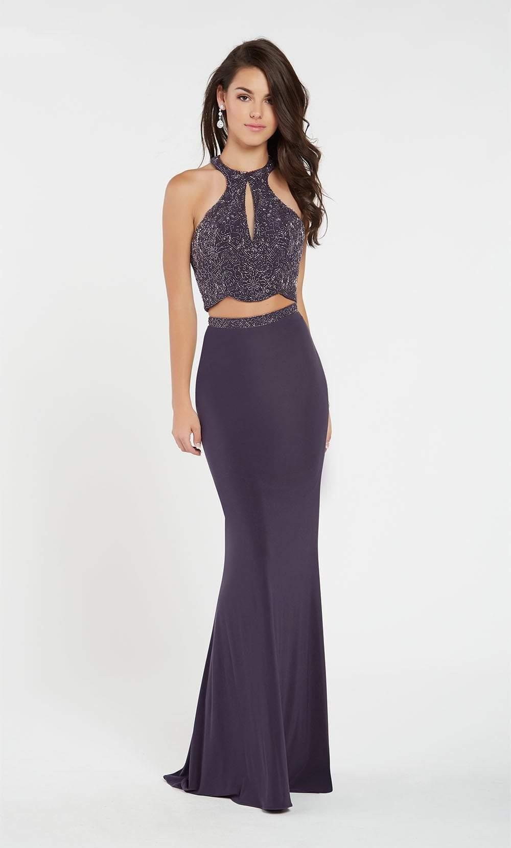 Alyce Paris - 60541 Two-Piece Beaded Cutout Bodice Sheath Gown