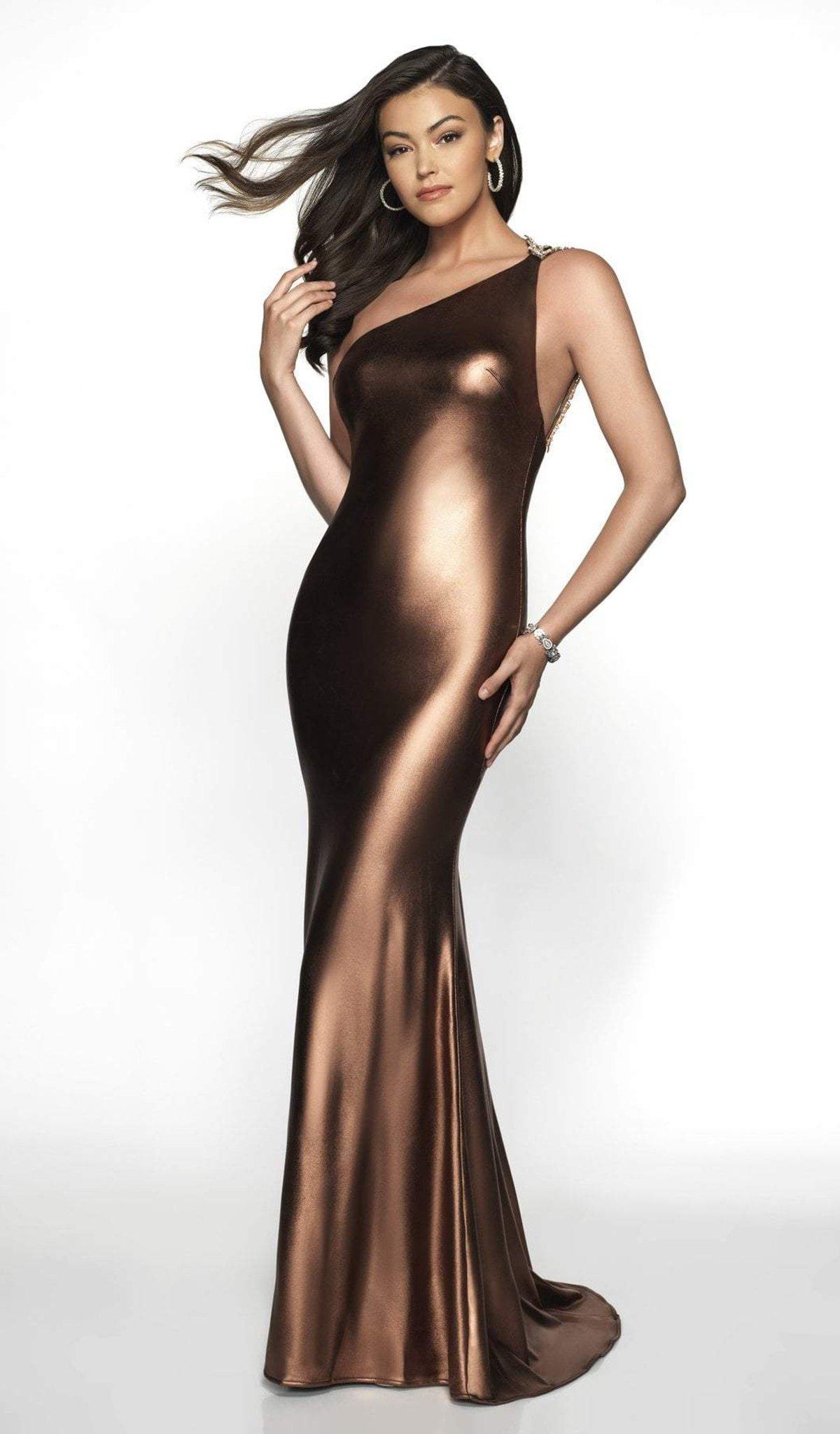Blush by Alexia Designs - 11713 Asymmetrical Fitted Sheath Dress