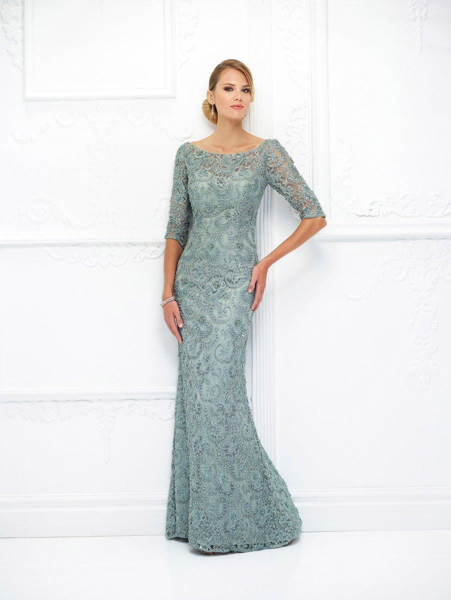 Ivonne D for Mon Cheri - 118D06W Beaded Lace Trumpet Dress