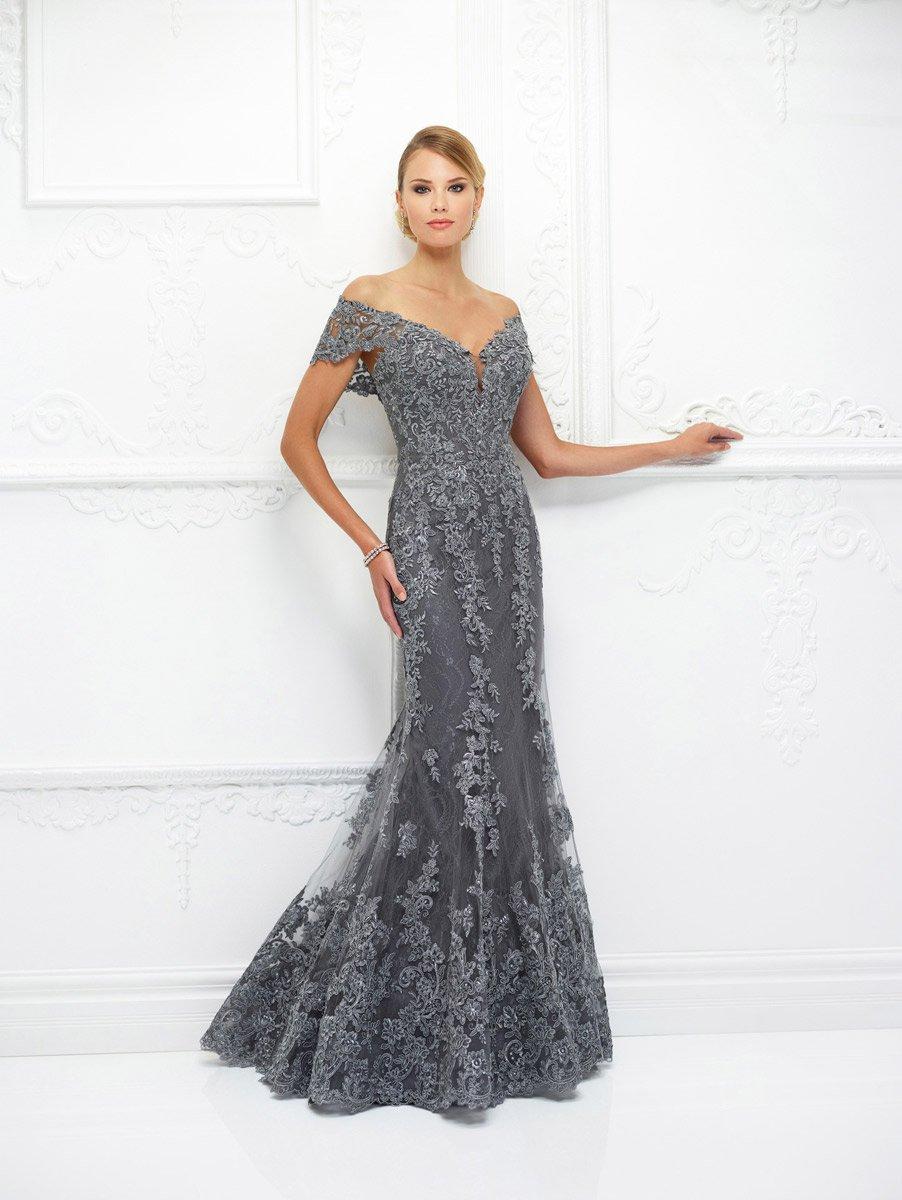 Ivonne D for Mon Cheri - 118D12W Lace Applique Trumpet Dress