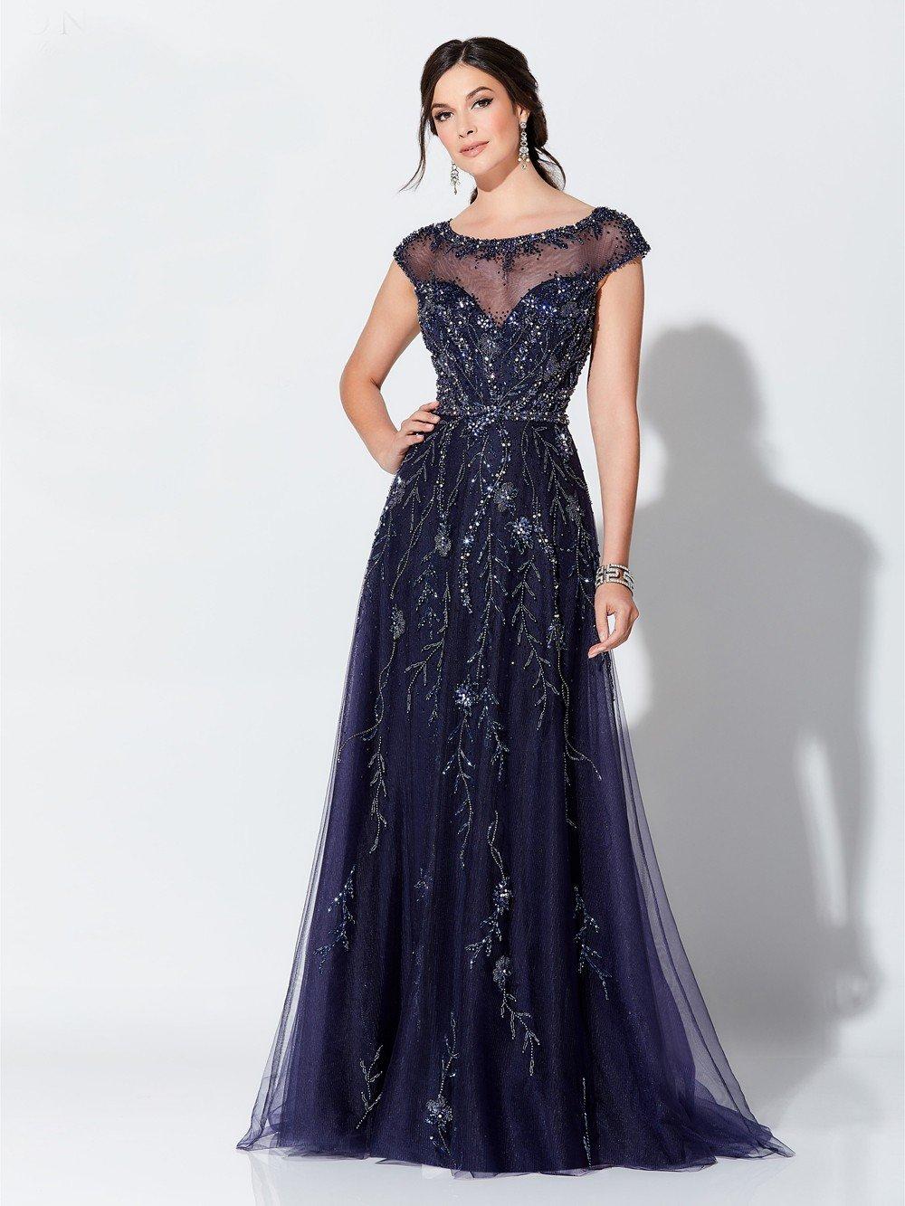 Ivonne D for Mon Cheri - 119D48W Stunning Beaded Tulle A-line Gown