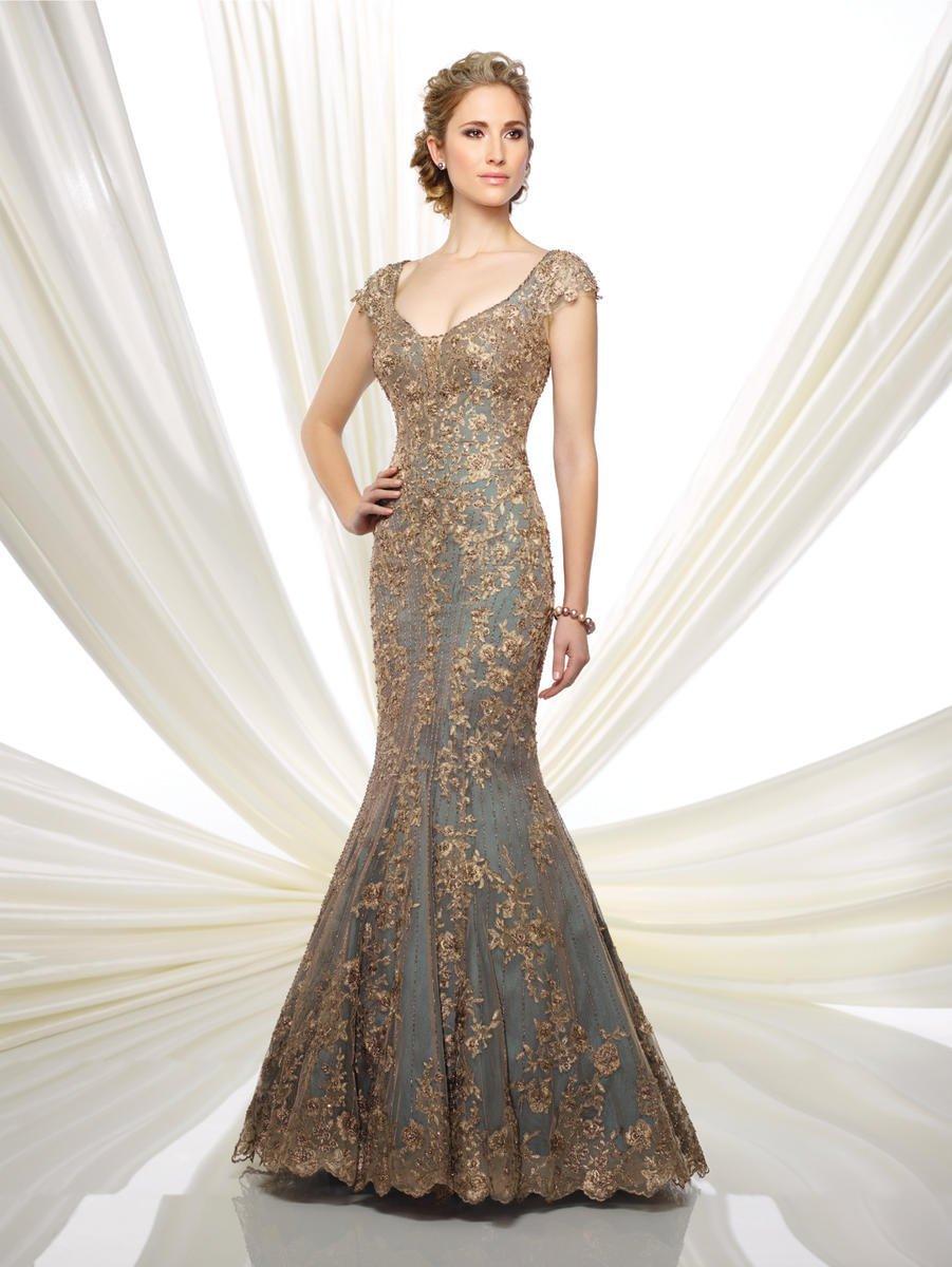 Ivonne D for Mon Cheri - 216D44W Beaded Lace Mermaid Dress