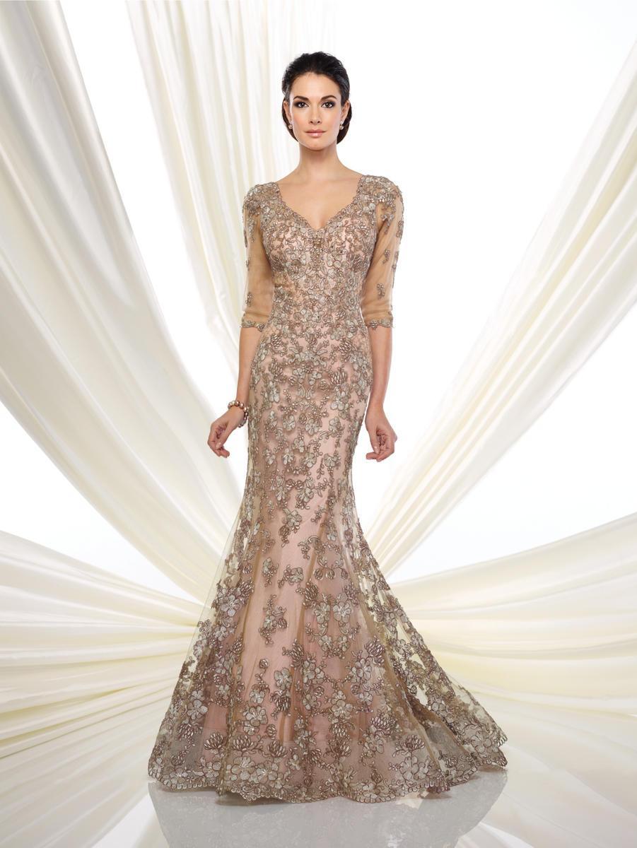 Ivonne D for Mon Cheri - 216D52W Beaded Lace Mermaid Gown