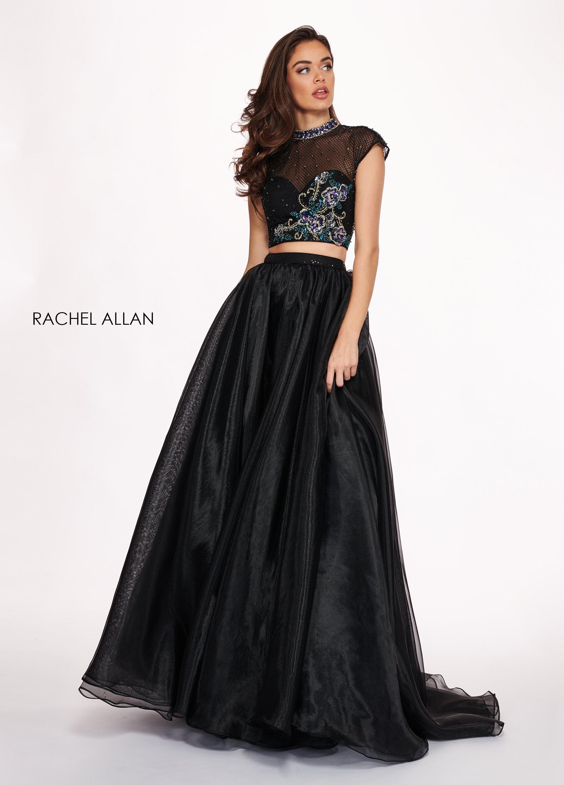 Rachel Allan - 6403 Two Piece Floral Beaded A-line Dress