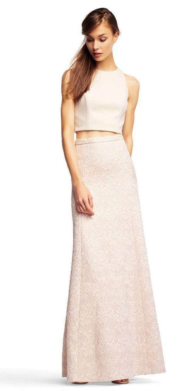 Aidan Mattox - MN1E200740 Textured Jacquard A-Line Gown