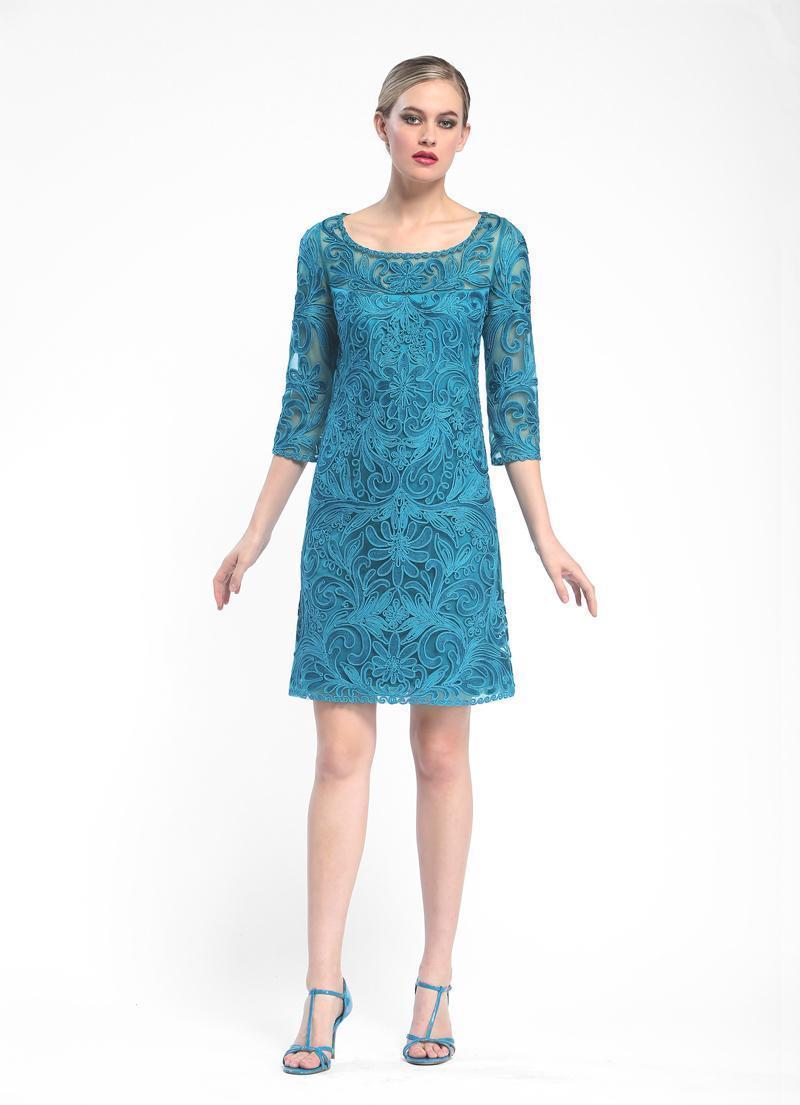 Sue Wong - Embroidered Bateau Neck Column Dress N5344
