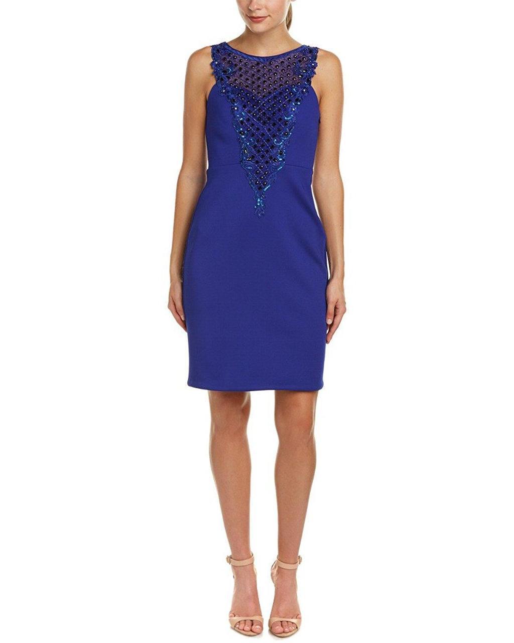 Sue Wong - Embroidered Illusion Bateau Dress N5345NM
