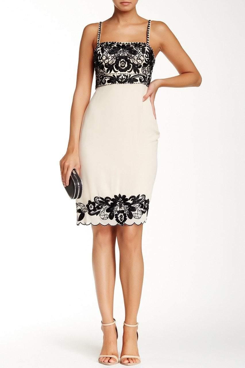 Sue Wong - Floral Embroidered Trim Sheath Dress R5105