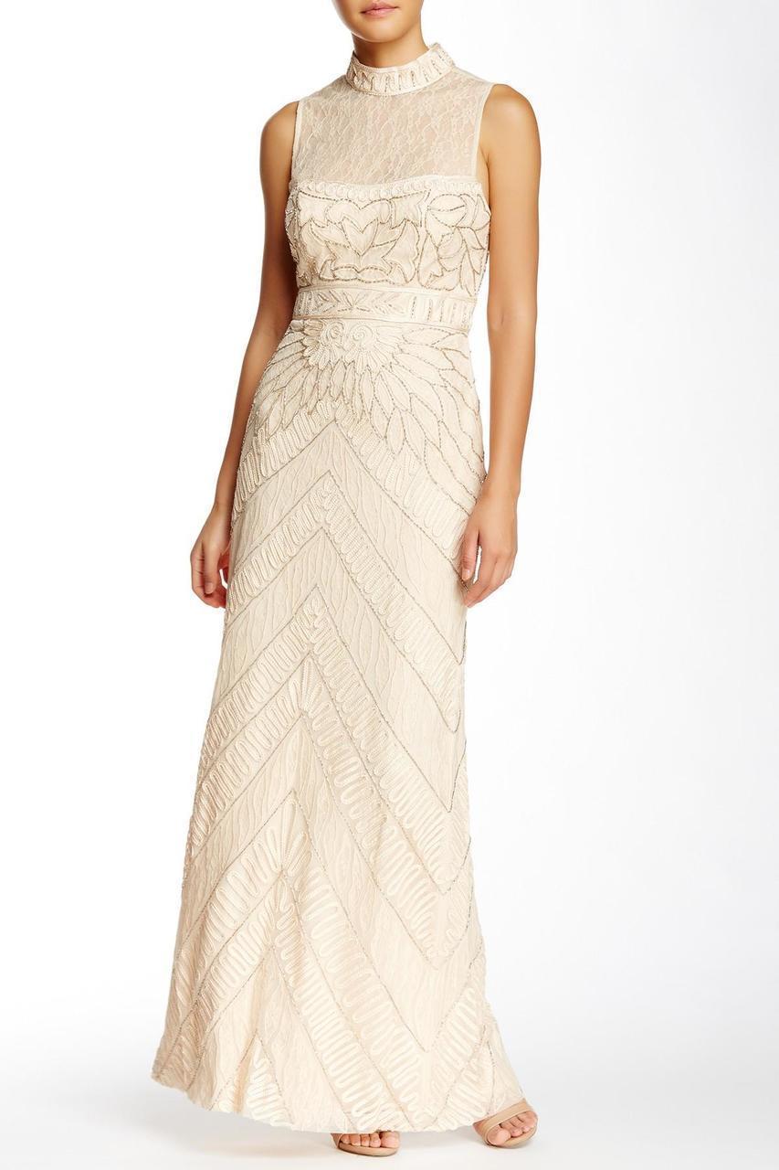 Sue Wong - High Illusion Bejeweled Sheath Dress N5110
