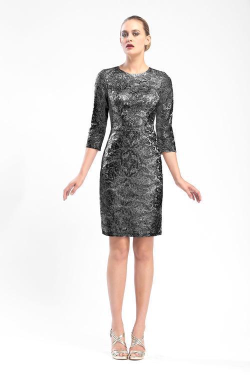 Sue Wong - Jewel Neck Sheath Dress N5551