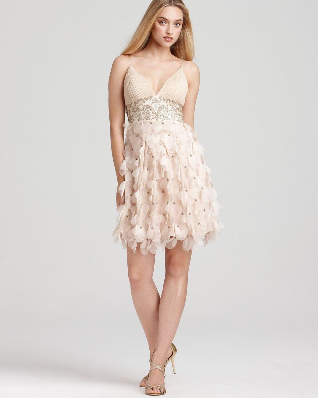 Sue Wong - N9111 Sleeveless Cascading Petal Organza Dress