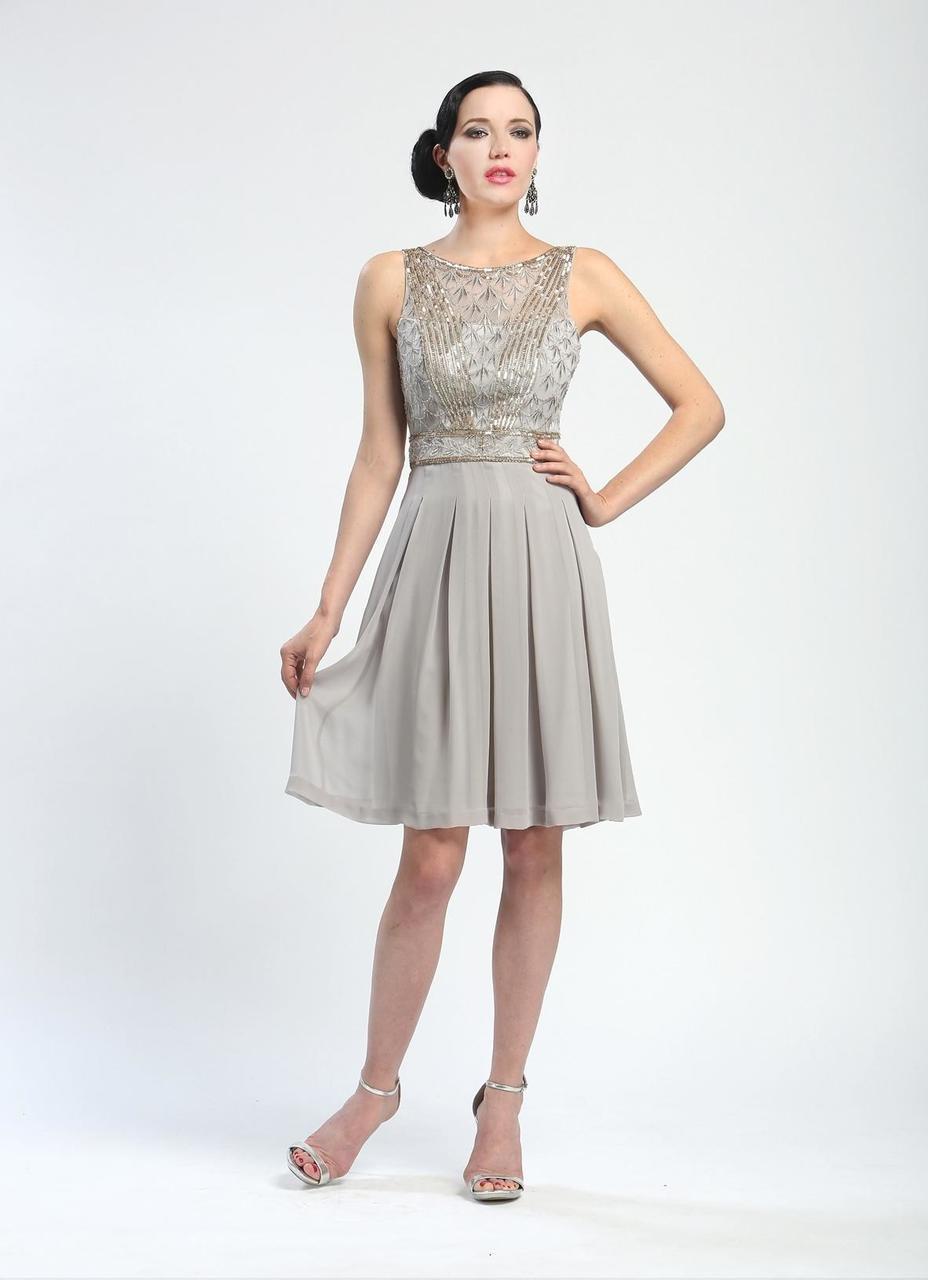 Sue Wong - Ornate V-Cut Back Dress N4216