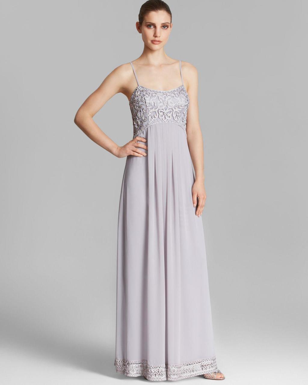 Sue Wong - Ribbon Chiffon A-Line Dress C4237