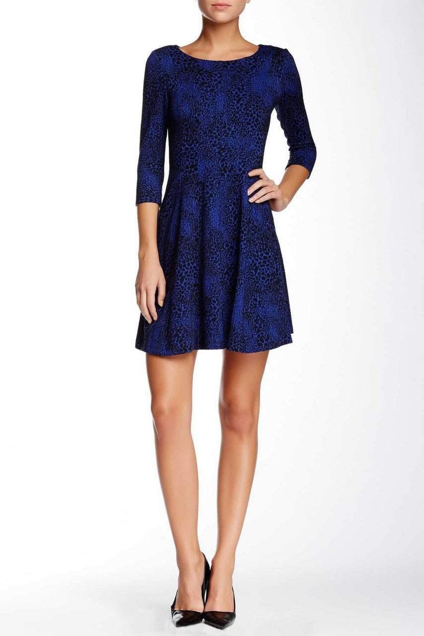 Taylor - 5140M Animal Print Ponte Dress