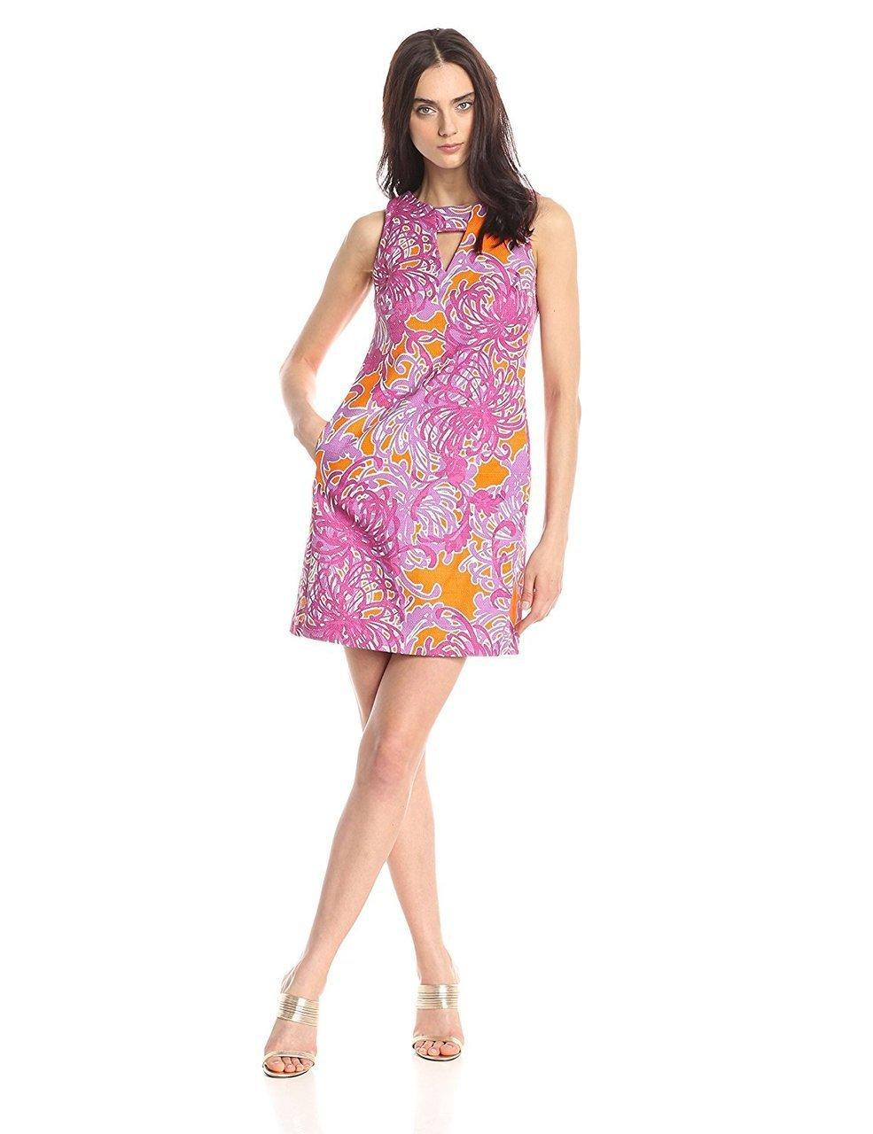 Taylor - 5395M Keyhole Floral Sheath Dress