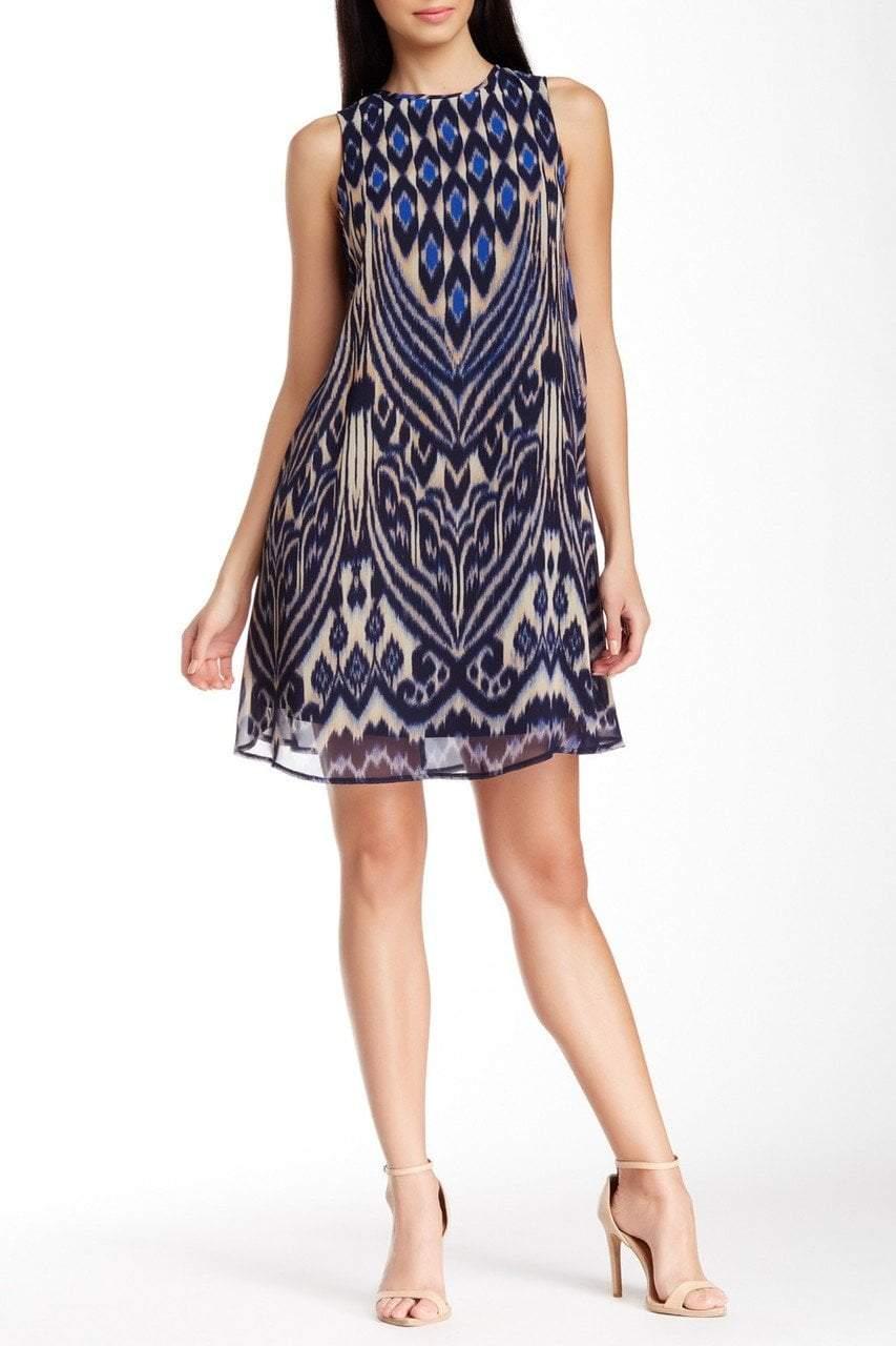 Taylor - 5429M Abstract Print Shift Dress