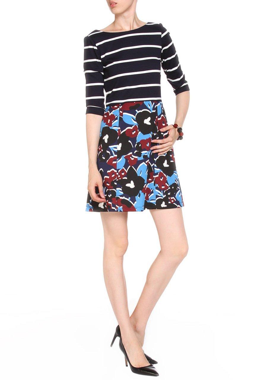 Taylor - 5961M Quarter Sleeve Stripe Dress
