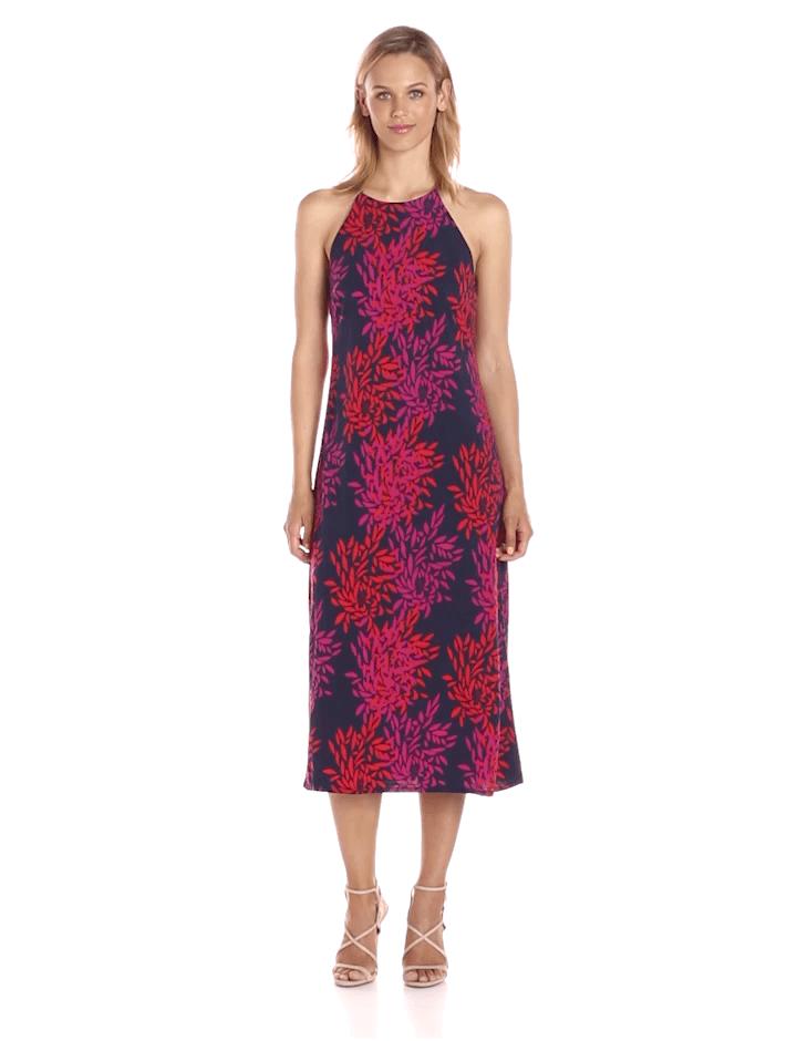 Taylor - 8949M Fern Print Jersey Dress
