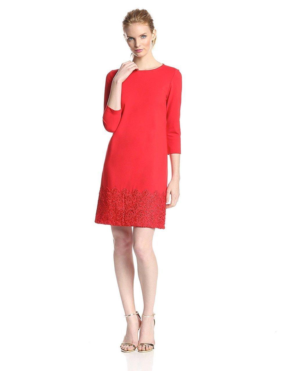 Taylor - Crochet Hem Jewel Neck Dress 5170M