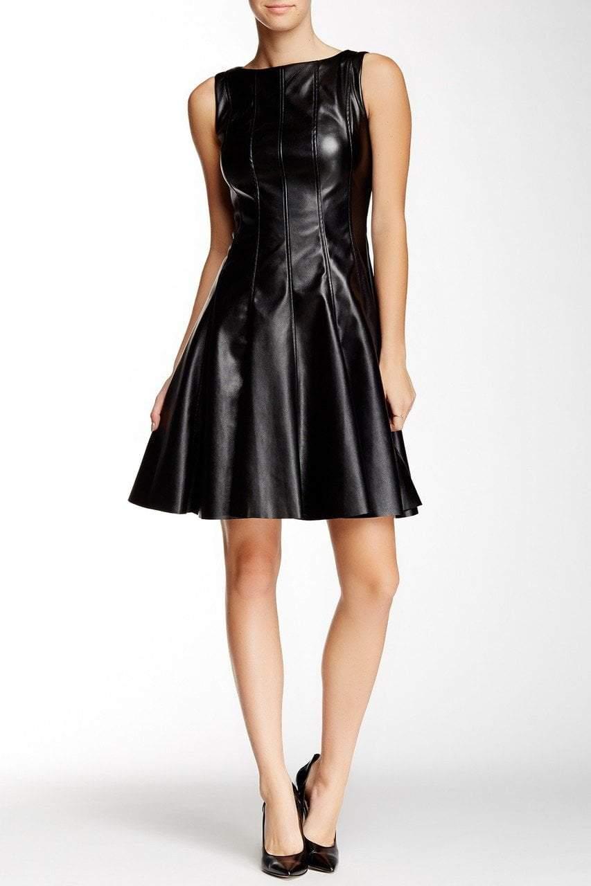Taylor - Faux Leather Skater Dress 5756M