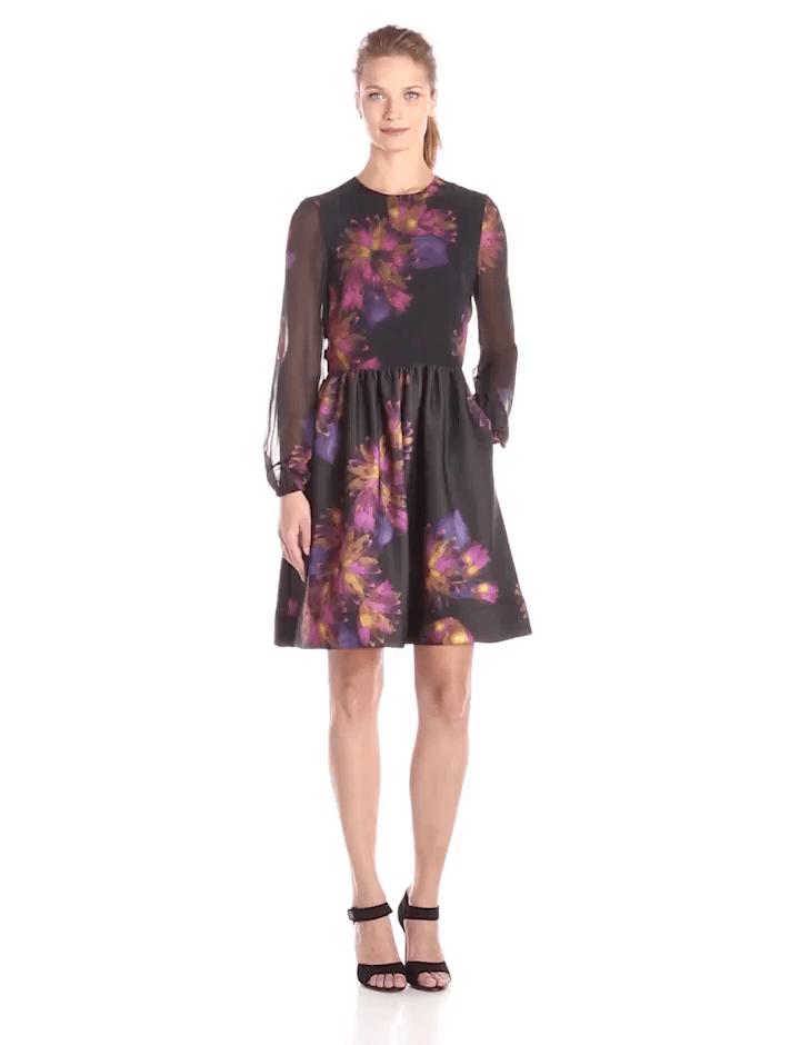 Taylor - Floral Jewel Neck Dress 5910M