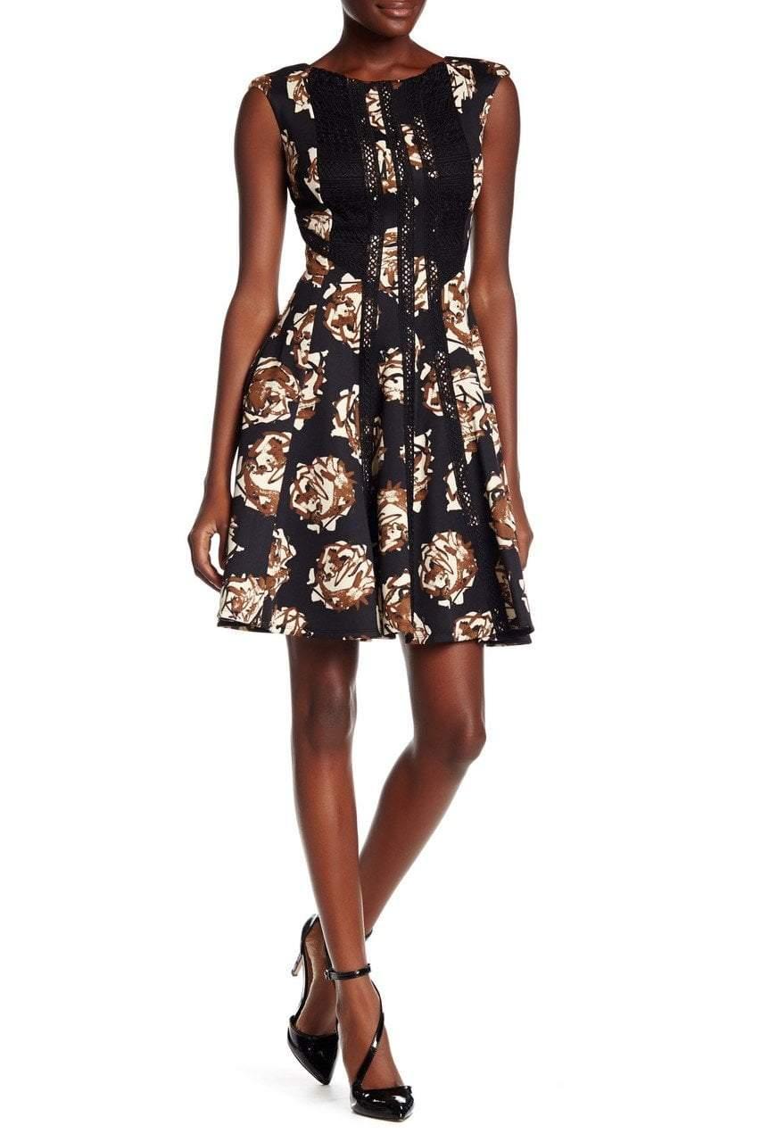 Taylor - Floral Print A-Line Dress 8489M