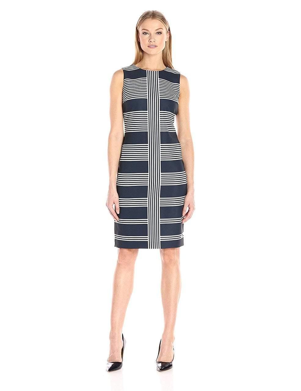 Taylor - Jewel Neck Sheath Dress 8687M