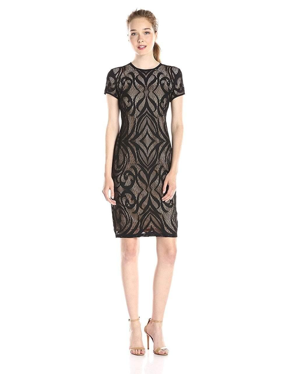Taylor - Lace Jewel Neck Pencil Cut Dress 5677M
