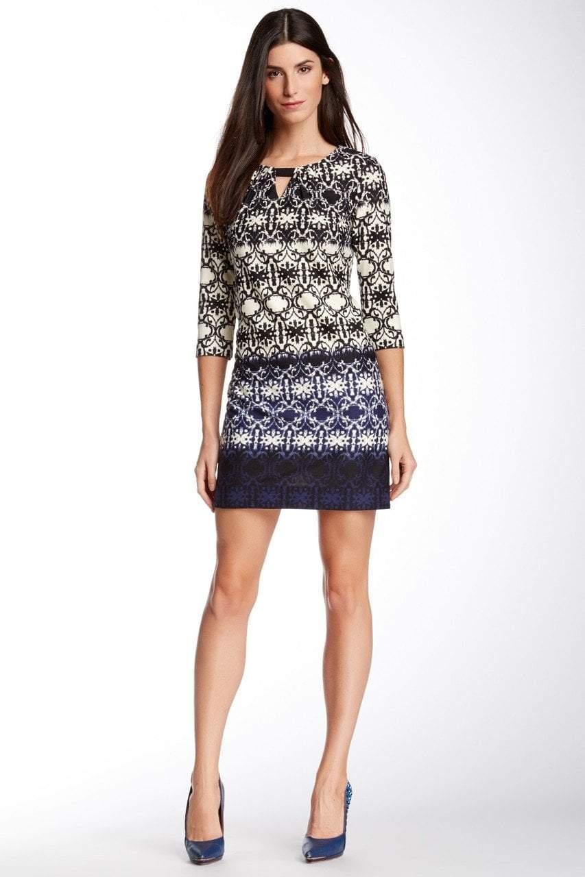 Taylor - Print Bateau Neck Dress 5211L