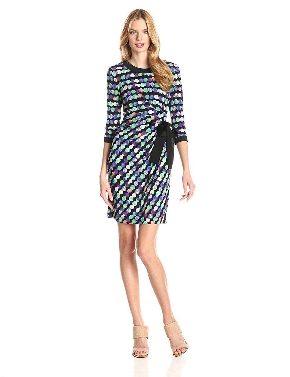 Taylor - Printed Jewel Neck Dress 5250M