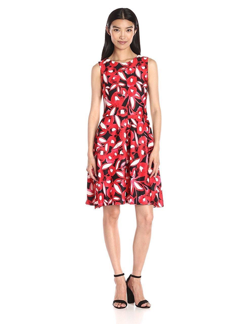 Taylor - Sleeveless Floral Jewel Neck Dress 8410M