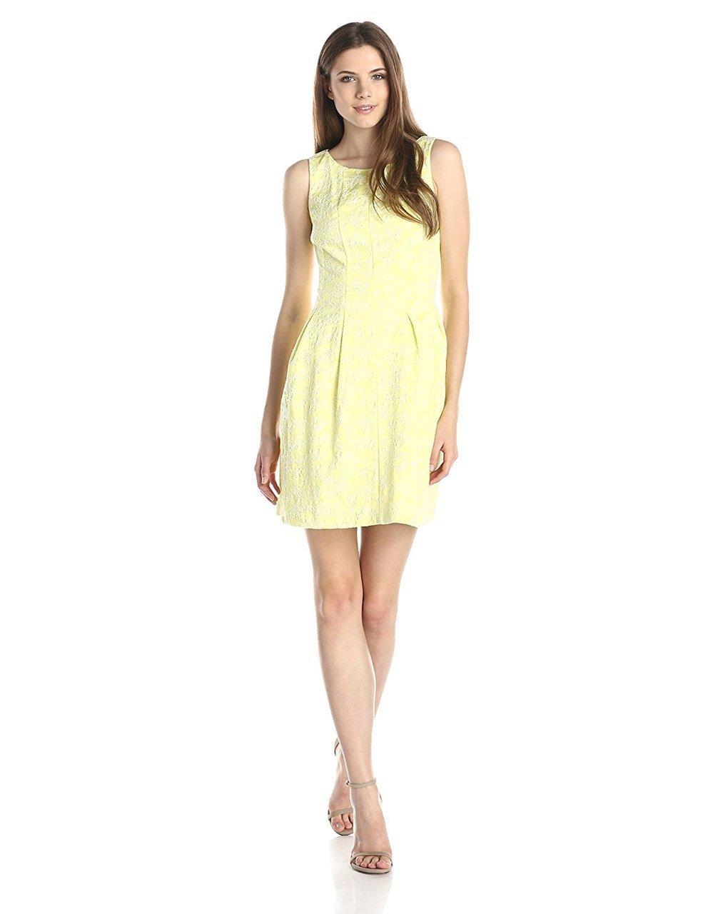 Taylor - Sleeveless Floral Scoop Neck Dress 5453M