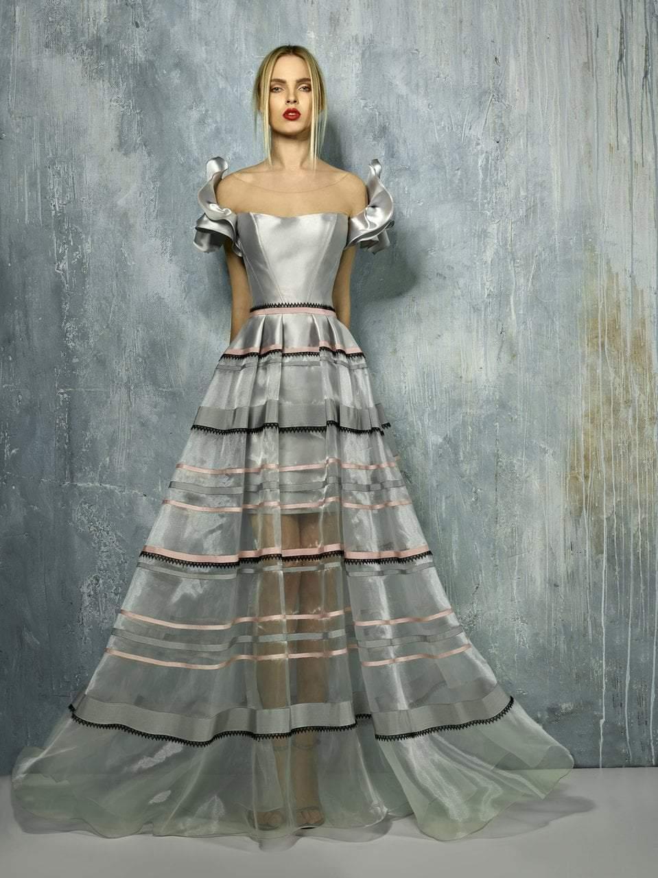 Beside Couture - BC1286 Illusion Bateau A-line Dress