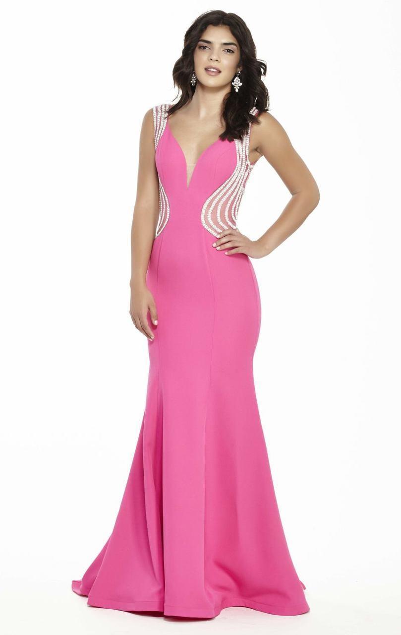 Jolene Collection - 17091 Sleeveless Beaded Slim Gown