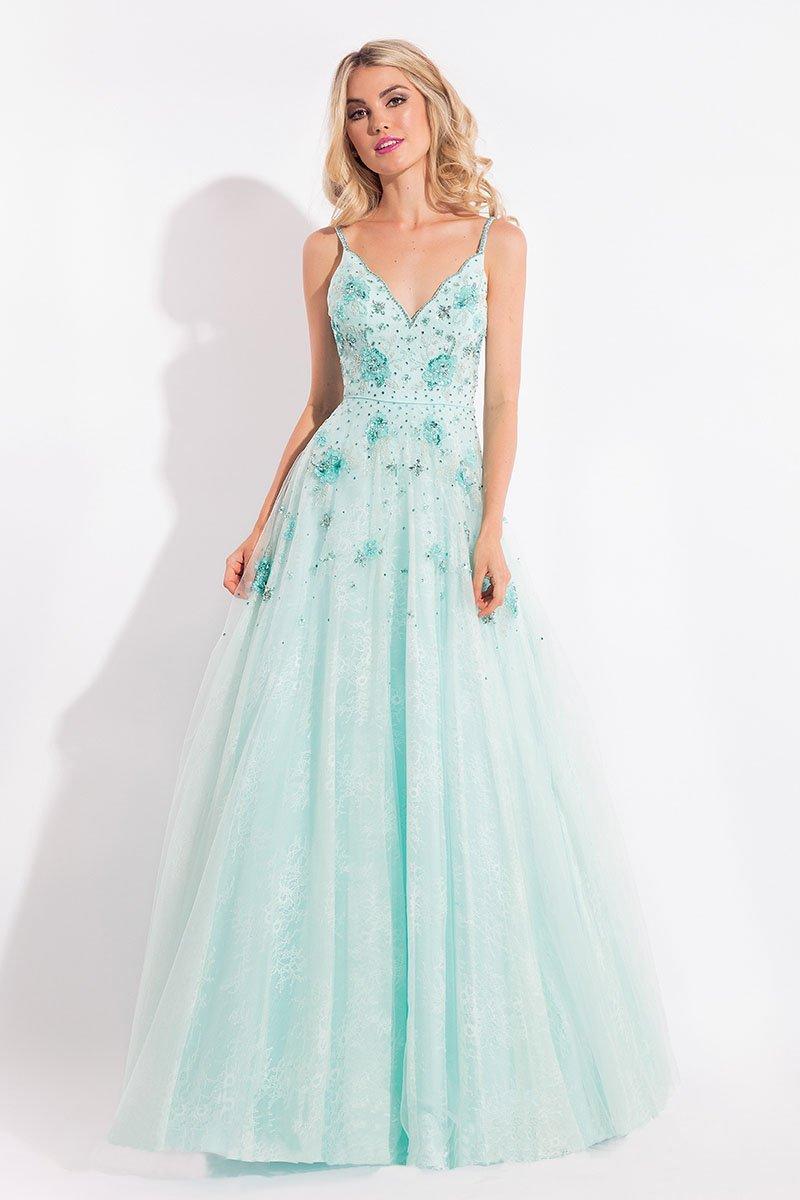 Rachel Allan - 6012 Floral Ornate Lace A-Line Gown