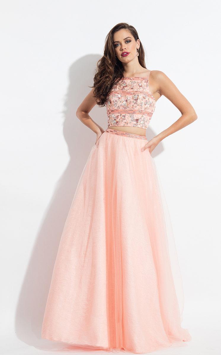 Rachel Allan - 6036 Two Piece Square A-line Dress