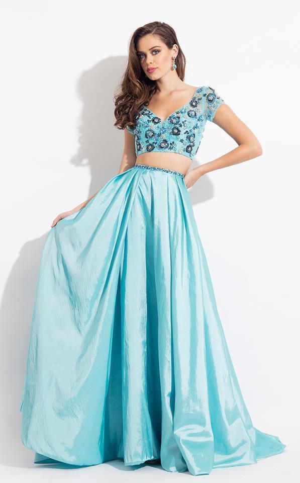 Rachel Allan - 6131 Two Piece Beaded Floral Gown