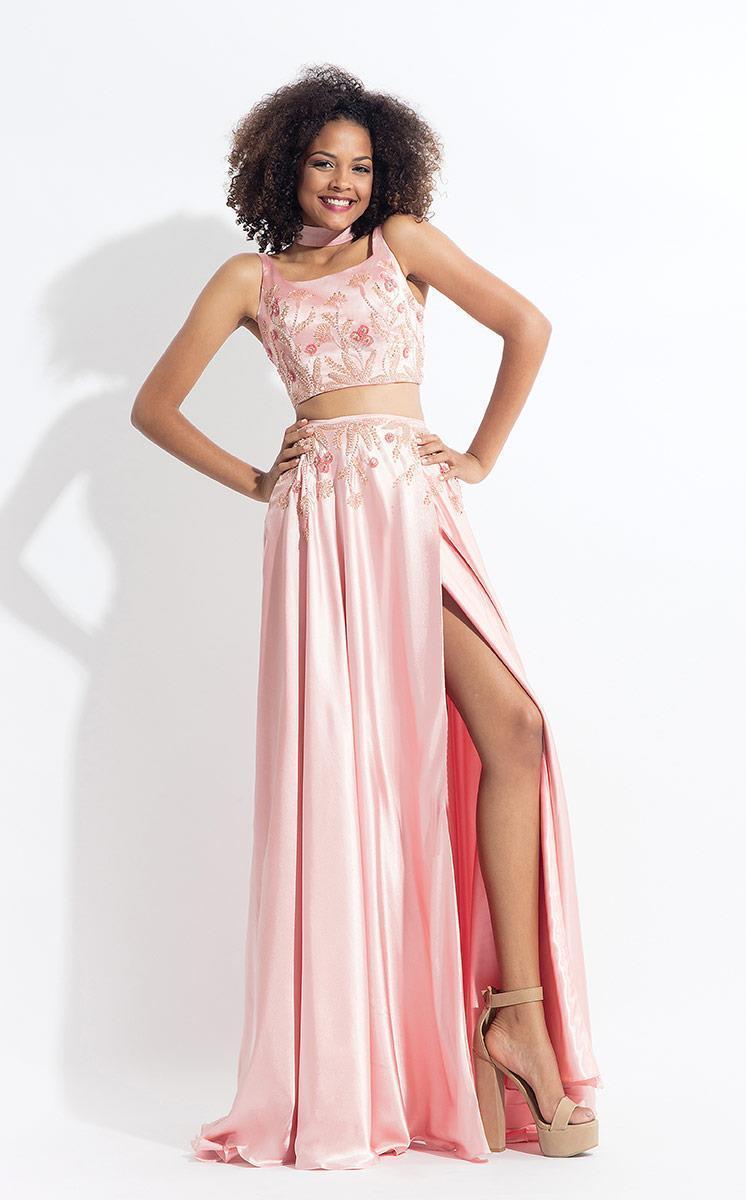 Rachel Allan - 6150 Two Piece Floral Scoop Evening Gown