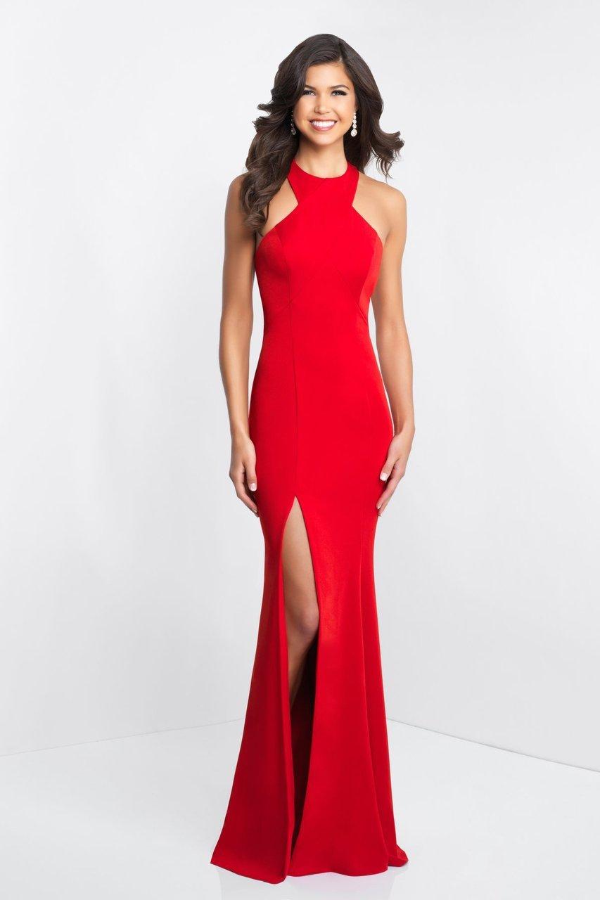 Blush by Alexia Designs - C1029 High Halter Ruffle Paneled Sheath Gown