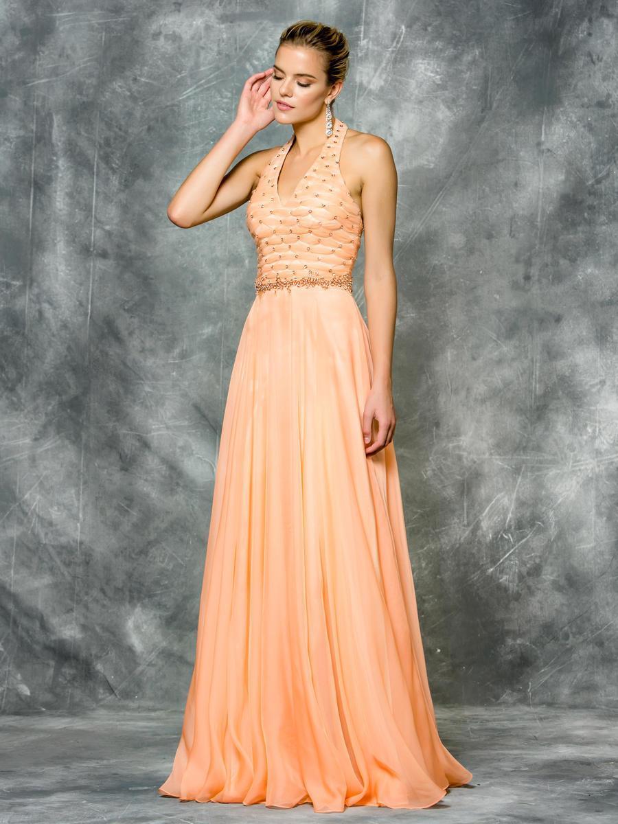 Colors Dress - 1699 Embellished Halter A-Line Gown