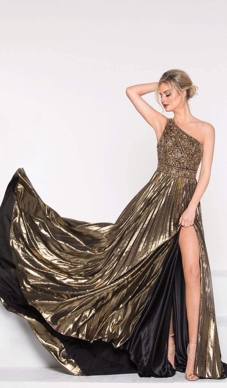 Colors Dress - 2006 Asymmetrical Beaded Cutout A-Line Gown