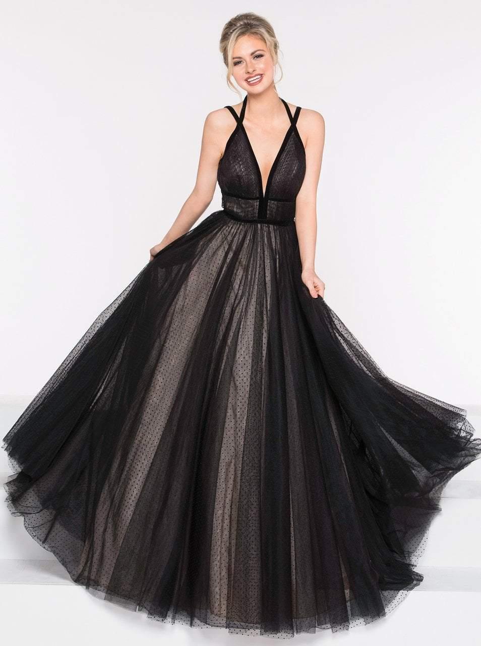 Colors Dress - 2009 Sleeveless Deep V-neck Dotted Ballgown