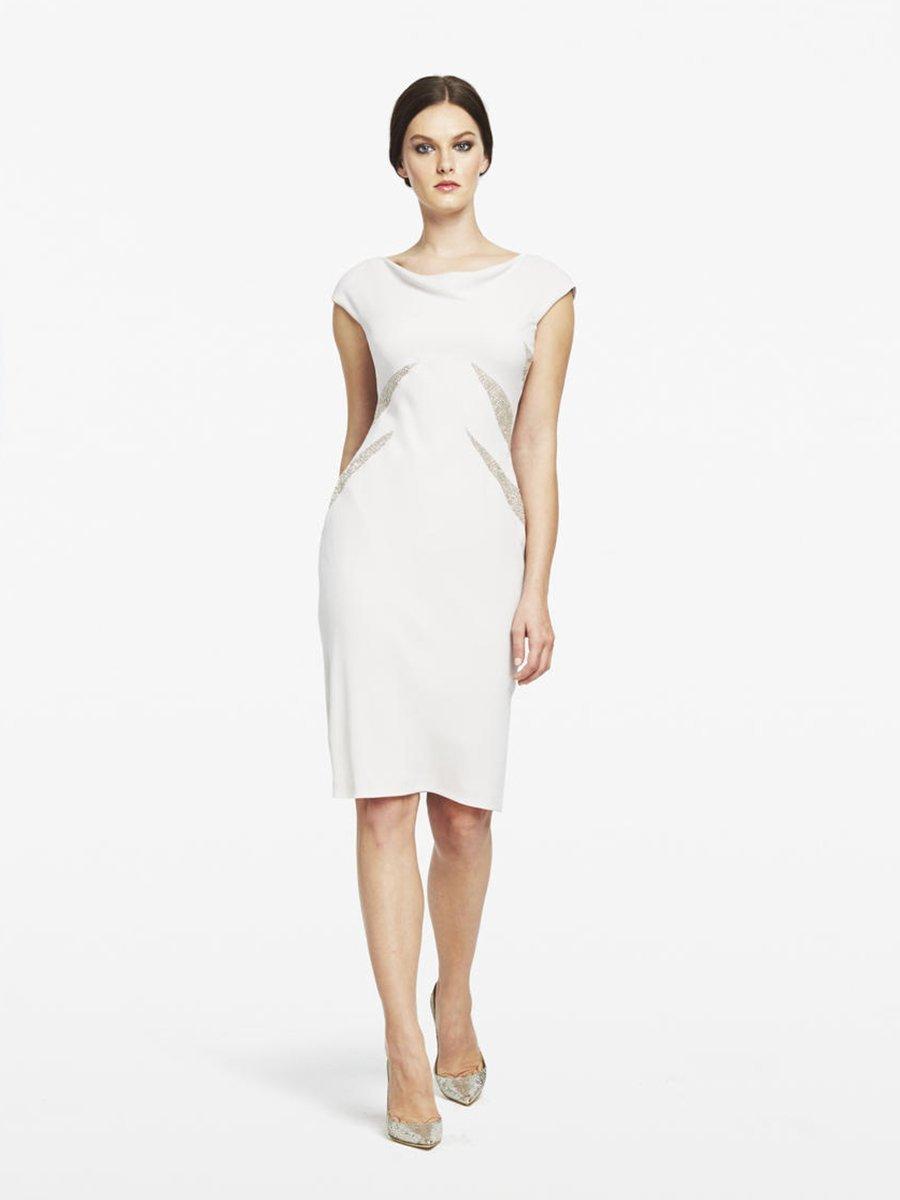 Daymor Couture - Cut Out Bateau Cocktail Dress 152