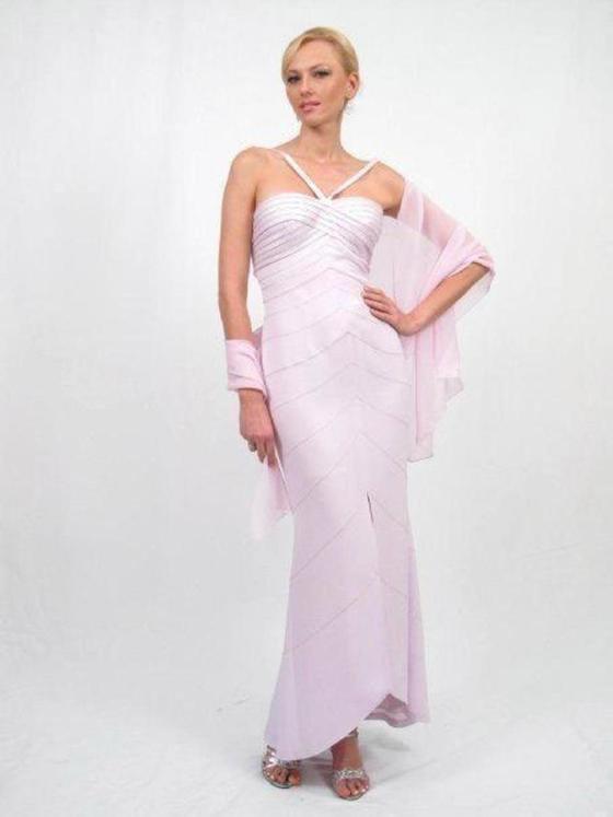 Daymor Couture - Halter Neckline Sheath Long Dress 122
