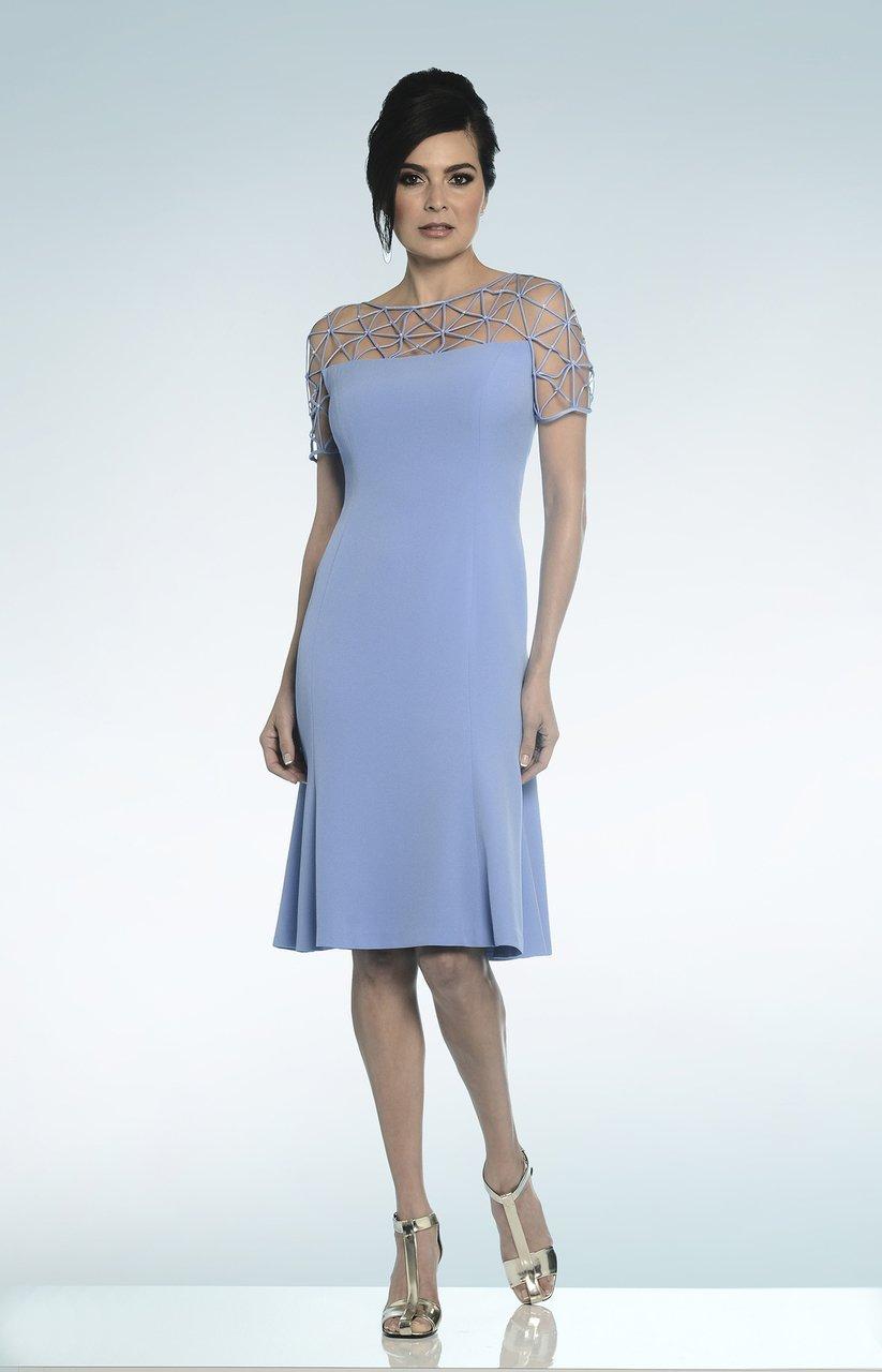Daymor Couture - Lattice Illusion Cocktail Dress 812
