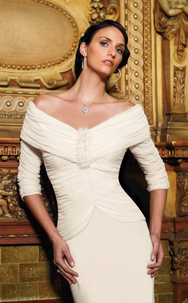 Daymor Couture - Ruched Off Shoulder Dress 705003