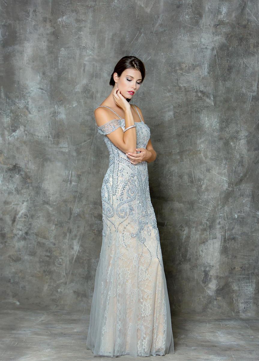 Glow by Colors - G730 Embellished Sweetheart Sheath Dress
