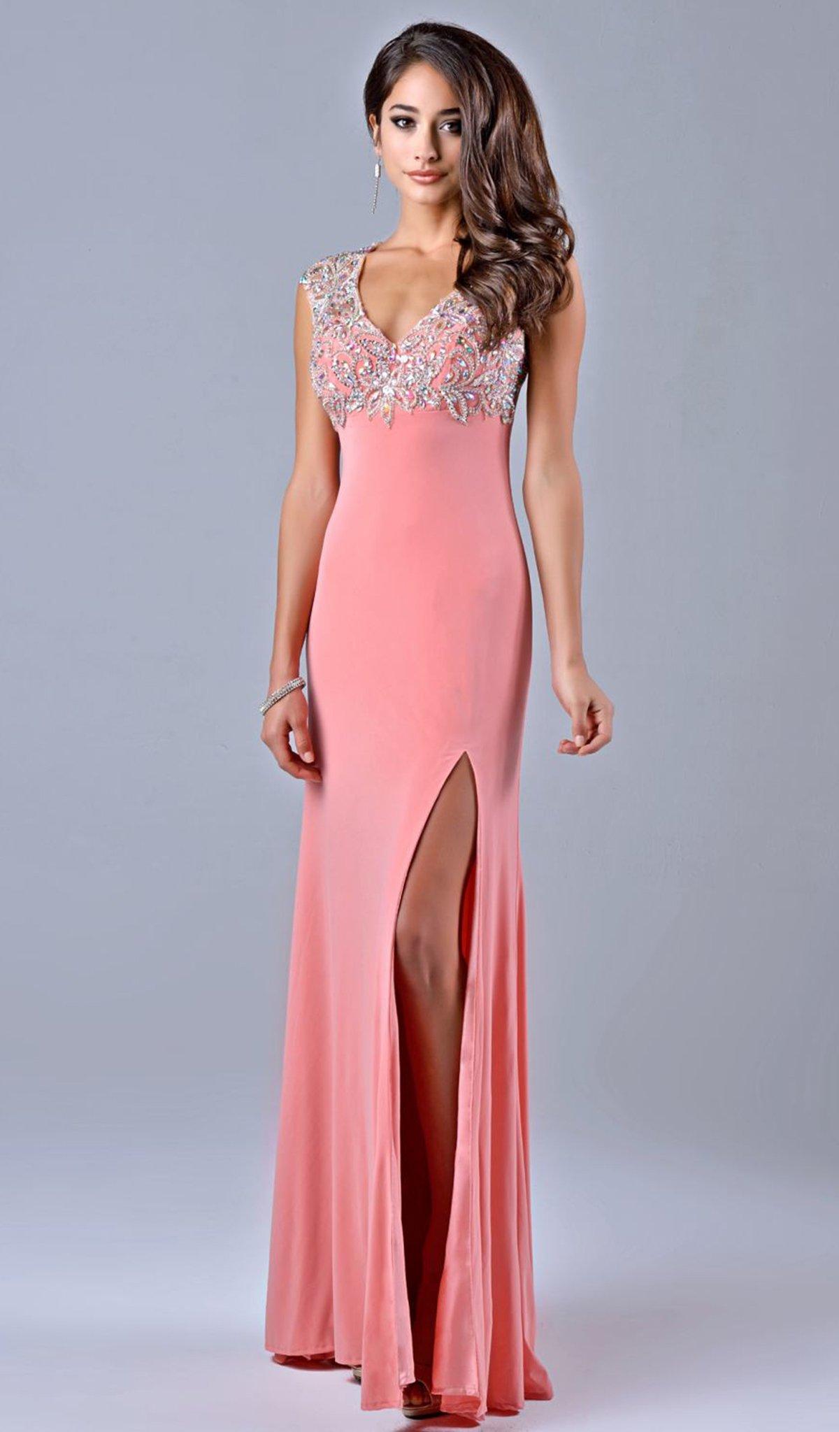 Nina Canacci - 1094 Dress in Peach