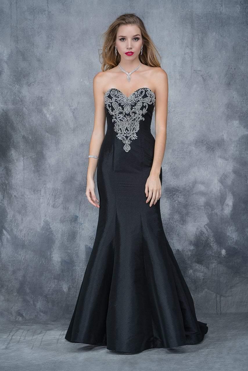 Nina Canacci - 2135 Bejeweled Sweetheart Mermaid Dress