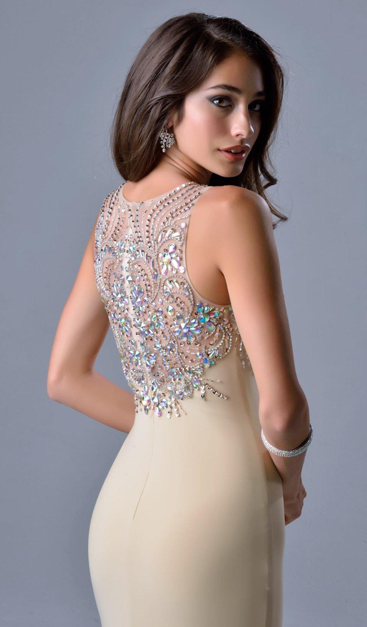 Nina Canacci - 8038 Dress in Champagne